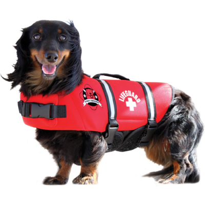 RED LIFEGUARD NEOPRENE DOGGY LIFE JACKETS