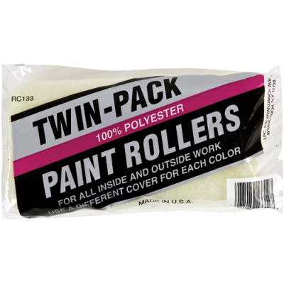 ECONOMY TWIN-PACK PAINT ROLLERS
