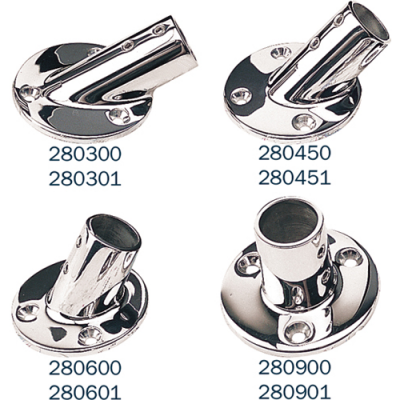 STAINLESS STEEL BASE RAIL FITTINGS - ROUND