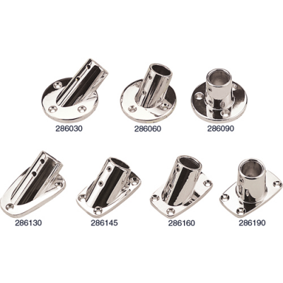 CHROME PLATED BASE RAIL FITTINGS